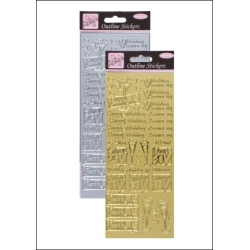 Anita's Peel-offs - Wedding Anniversary Gold & Silver (ANT 8101208/9)