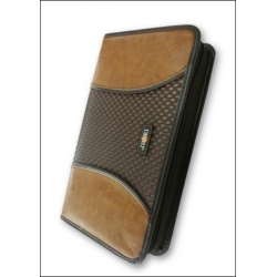 Luxury Leather-look CD/DVD Case for 80 Discs