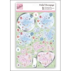 Foiled Decoupage - 60th Birthday (ANT 169617)