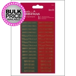 Die-cut Christmas Sentiments Red & Green (PMA 157940)