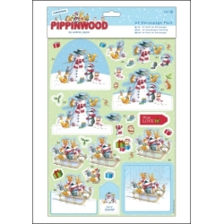 A4 Decoupage pack - Pippinwood Christmas (PMA 169909)