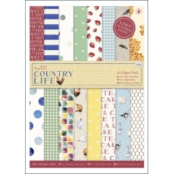 A5 Paper Pack Linen (24pk) - Country Life (PMA 160248)