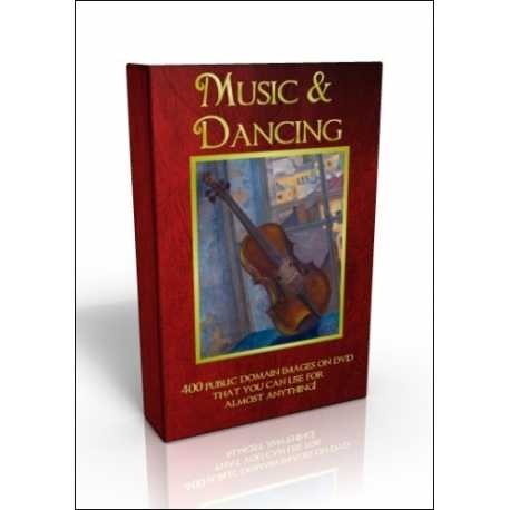 Public Domain Image DVD - Music & Dancing