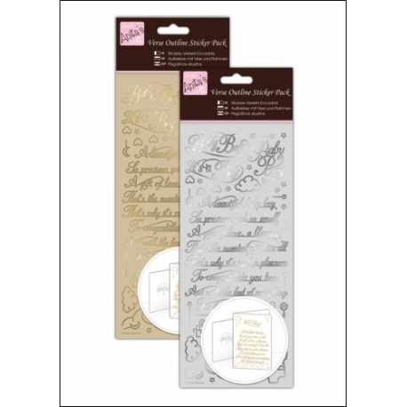 Anita's Outline Stickers - Verses, Baby Boy Gold & Silver (ANT 810155/6)