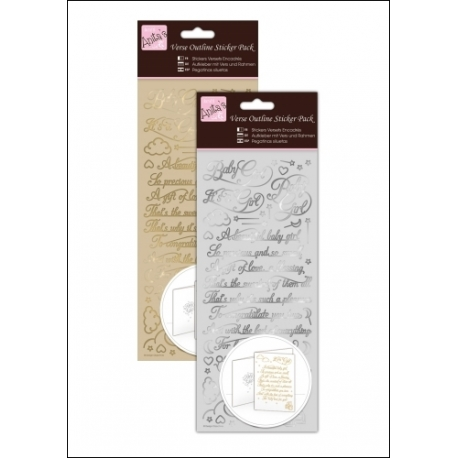 Anita's Outline Stickers - Verses, Baby Girl Gold & Silver (ANT 810153/4)