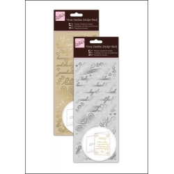 Anita's Outline Stickers - Verses, Happy Anniversary Gold & Silver (ANT 810151/2)