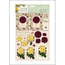 Botanicals - A4 Decoupage pack Blousey Flowers (PMA 169017)