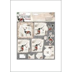 8 x 8'' Mini Decoupage - Festive Fauna, Postcard (PMA 169950)