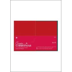 20 pack 7 x 5 Red & Green Cards/Envelopes (PMA 151901)
