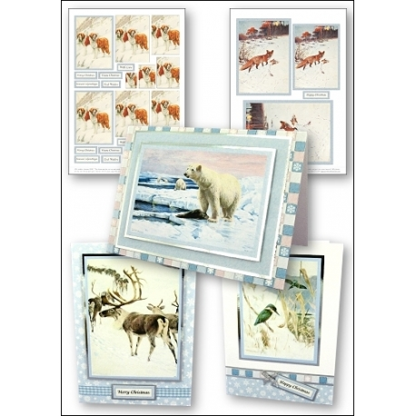 Download - Set - Christmas - Animals in the Snow