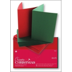 Papermania A6 Cards/Envelopes (50pk) - Red & Green (PMA 151904)
