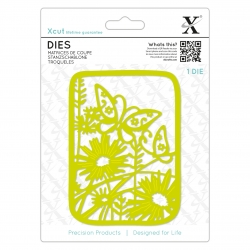 XCU 504083 Dies (1pc) - Wildflower Butterfly