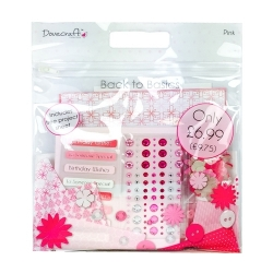 Dovecraft Back To Basics Goody Bag - Pink (DCGDB003)
