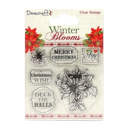 Dovecraft Winter Blooms Clear Stamps - Poinsettias (DCSTP066X16)