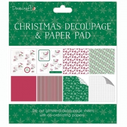 DCDPG003X16 Dovecraft Christmas FSC Decoupage and Paper Pad - White Bears