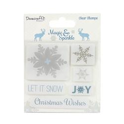 Dovecraft Premium Magic & Sparkle Clear Stamps - Snowflakes (DCSTP064X16)