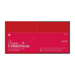 Papermania Cards/Envelopes - Square Red & Green (PMA 151905)