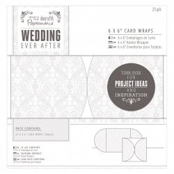 "6 x 6"" Card Wraps (25pk) - Wedding Damask (PMA 158120)"