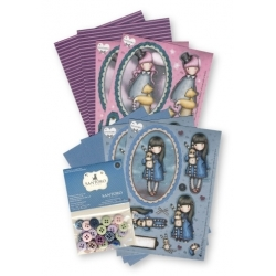 Gorjuss A6 Decoupage & Mini Polka Buttons