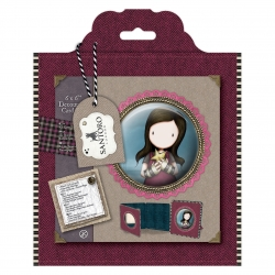 6 x 6'' Framed Decoupage Card Kit - Santoro Tweed (GOR 169121)