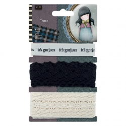 1m Trims (3pcs) - Gorjuss Tweed (GOR 358333)
