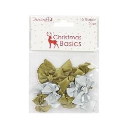 Dovecraft Christmas Basics Mini Bows (DCRBN020X16)
