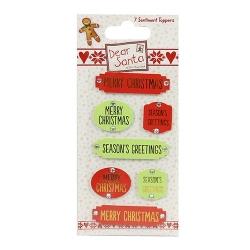 Dear Santa by Helz Cuppleditch Sentiment Toppers (HCTOP006X16)