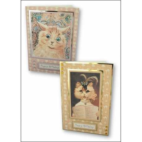 Download - Set - Louis Wain and Quirky Cats - Motifs and