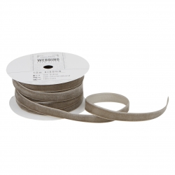 10m Velvet Ribbon - Wedding, Dark Grey (PMA 158507)