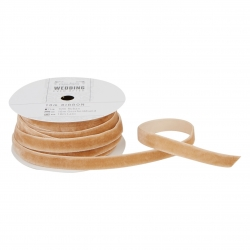 10m Velvet Ribbon - Wedding, Antique Gold (PMA 158509)