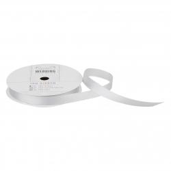10m Satin Ribbon - Wedding, Silver (PMA 158502)