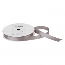 10m Satin Ribbon - Wedding, Dark Grey (PMA 158501)