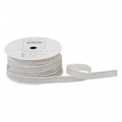 10m Velvet Ribbon - Wedding, Silver (PMA 158508)