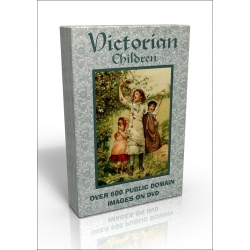 Public Domain Image DVD - Victorian Children with FREE 'A Flower Book' bonus