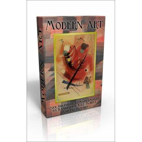 Public Domain Image DVD - Modern Art inc. Kandinsky, Klee, Munch & Schiele