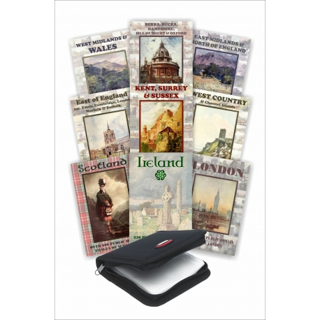 Public Domain 8 + 1 DVD Collection - Beautiful Britain with FREE Ireland DVD
