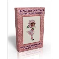 Public Domain Image DVD - Elizabeth Gordon's Flower Children Series