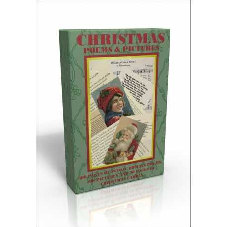 Public Domain Image DVD - Christmas Poems & Pictures with FREE