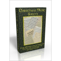Public Domain Image DVD - Christmas Music Sheets