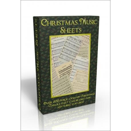 Public Domain Image DVD - Christmas Music Sheets