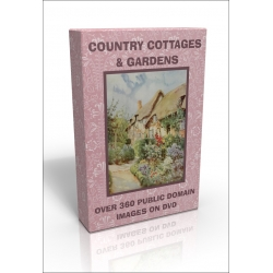 Public Domain Image DVD - Country Cottages and Gardens