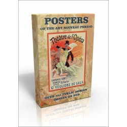 Public Domain Image DVD - Posters of the Art Nouveau Period