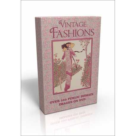 Public Domain Image DVD - Vintage Fashions with Art Deco images