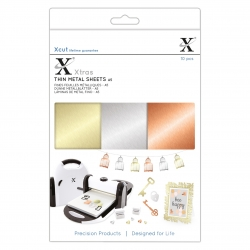 Xcut Xtras A5 Thin Metal Sheets, 10pcs (XCU 174414)
