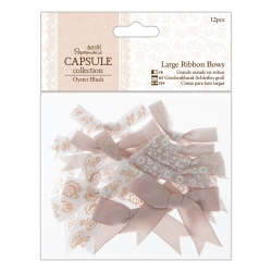 Large Ribbon Bows (12pcs) - Oyster Blush (PMA 367210)