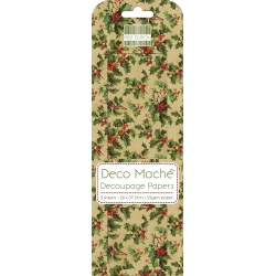 First Edition FSC Deco Mache - Vintage Holly (FEDEC160X15)