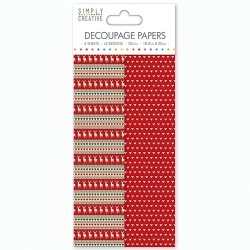 Simply Creative Decoupage Paper - Stag Stripe (SCDEC053X16)