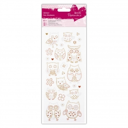 Glitter Dot Stickers - Owls (PMA 818214)