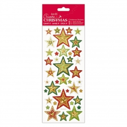 Foiled & Embossed Stickers - Christmas Stars (PMA 806900)
