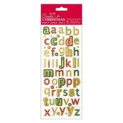 Foiled & Embossed Stickers - Christmas Alphas, Lower Case (PMA 806905)